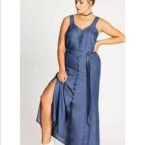 City Chic Denim Maxi Dress
